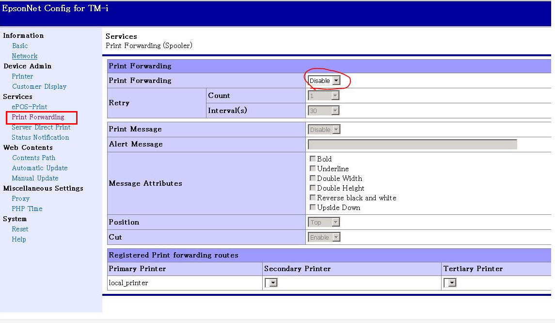 Epson TM-T88VI Test Print Failed on Kounta via Chrome