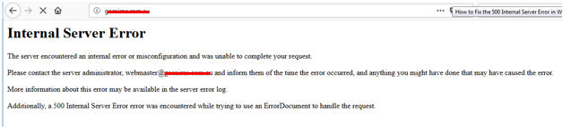 WooCommerce 500 Internal Server Error